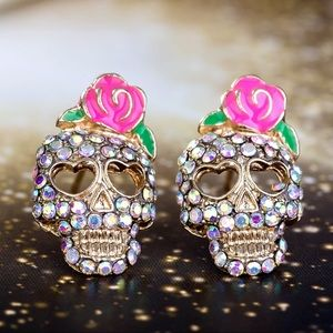 2/$20! Sugar Skull/Day of the Dead Stud Earrings